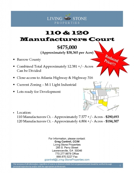 Information Packet, 110 & 120 Manufacturers Ct._Page_1